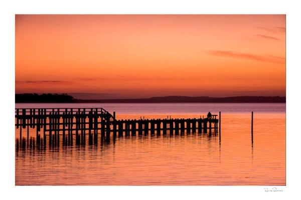 Lone Fisherman - Landscape