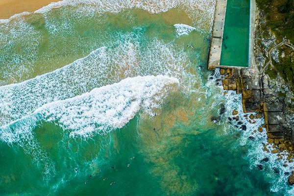 Queenscliff Rock Pool - Aerial Artwork