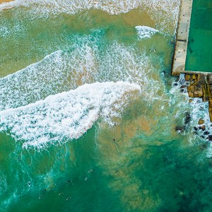 Queenscliff Rock Pool - Aerial Artwork