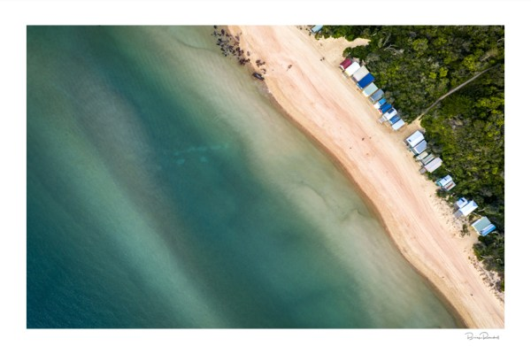 Bay Bliss - Aerial Artwork - Mills Beach - Mornington Peninsula