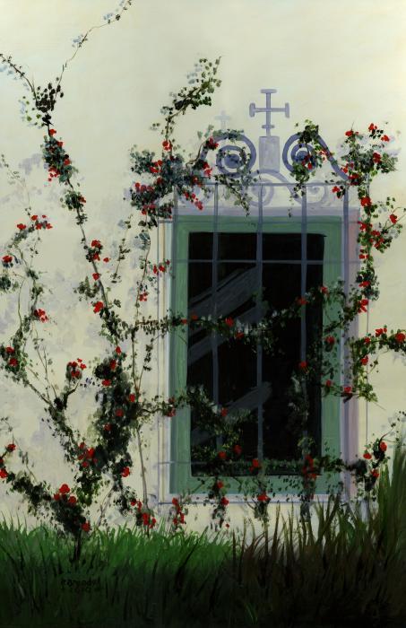 Vintage Capodimonte Basket Italy Italian Flower Rose s .