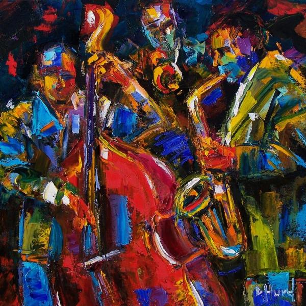 Jazz, by Debra Hurd. Oil on canvass.