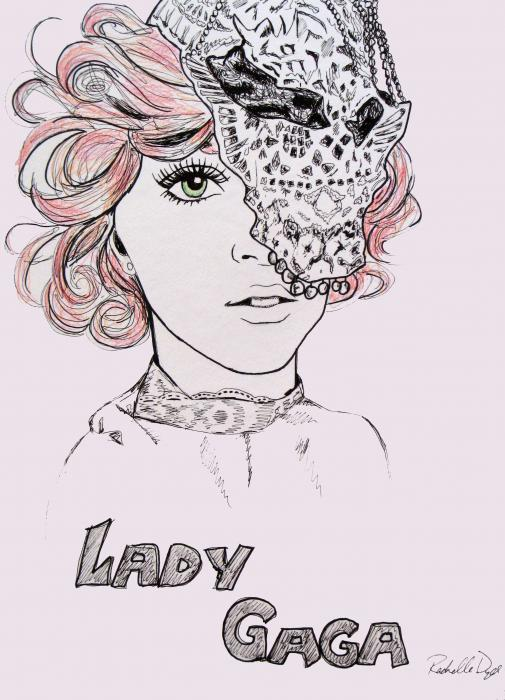 Lady Gaga 2 Drawing - Lady Gaga 2 Fine Art Print