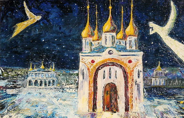 Russian Orthodox Church Painting By Ashxxx