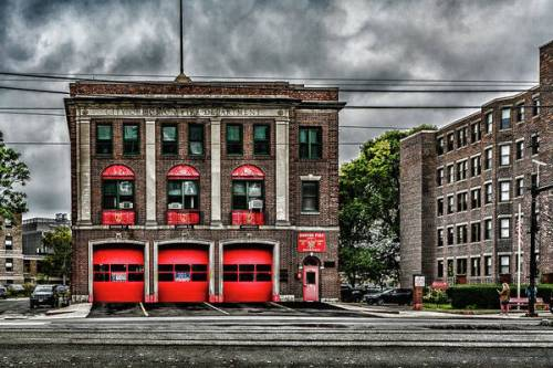 The historic firehouse of Engine 37 / Ladder 26 in Fenway