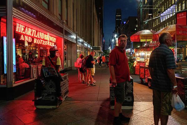 A street scene in New York City, NY.