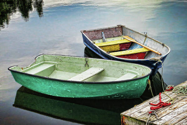 Two Art Print featuring the photograph Two Rowboats In Nova Scotia by Tatiana Travelways