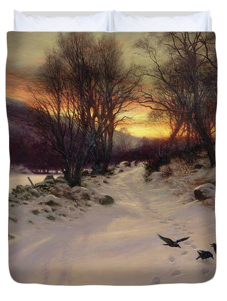 When The West With Evening Glows Painting By Joseph
