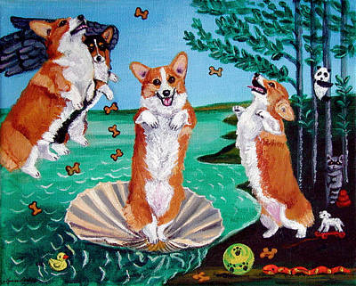 The Birth Of Venus Pembroke Welsh Corgi Painting By Lyn Cook