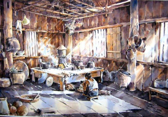 village-painting