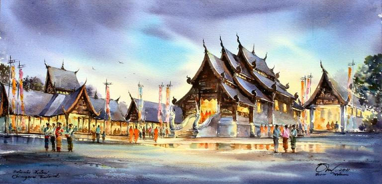 Watercolor Paintings By Thailand Artist Thanakorn Chaijinda