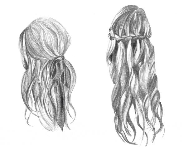 amazing pencil drawings of hair