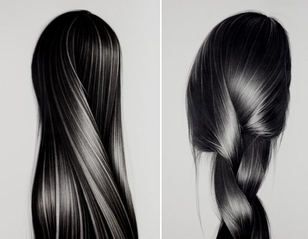 graphite-hair-drawings