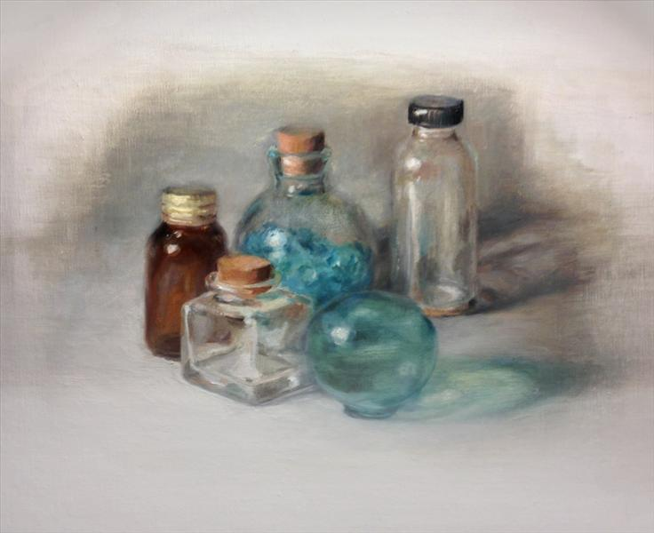 oil paintings of glass bottles fine art blogger