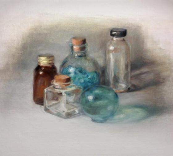 oil-painting-glass-bottles