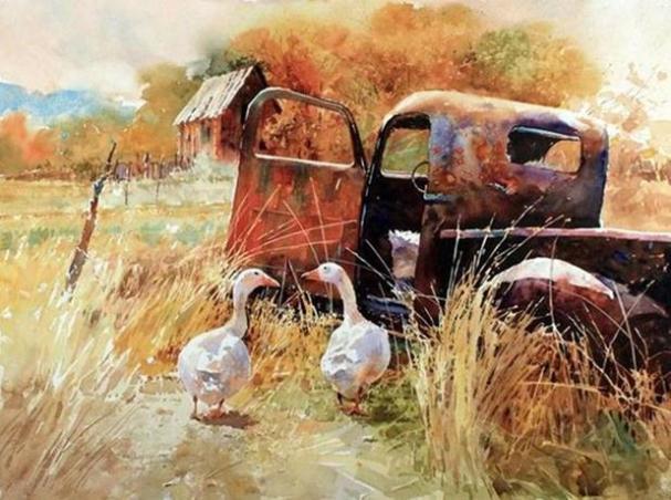 goose-paintings