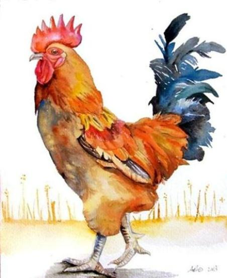painting-rooster
