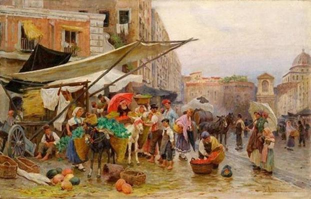 Paintings-Of-Street-Markets