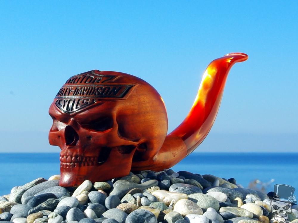 M-017XL-hd-olive – Harley-Davidson Skull Pipe