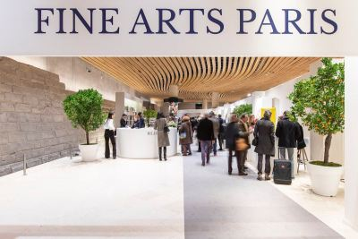 Fine Arts Paris 2019: entrance of the fair