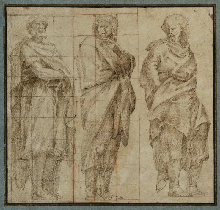 GALERIE RATTON-LADRIÈRE, Lelio ORSI, Three draped Figures