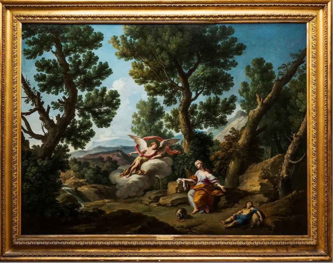 Andrea Locatelli, Hagar and Ishmael saved by an angler who show them a source