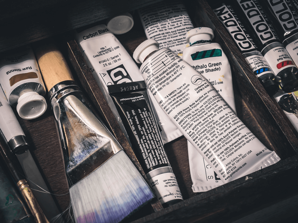 best acrylic paint brands: acrylic painting supplies
