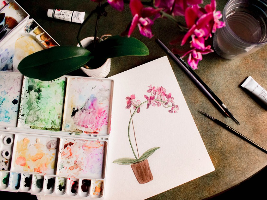 easy watercolour painting tutorials