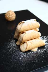 mishti dohi cannoli Fine dining Indian Chef Manish