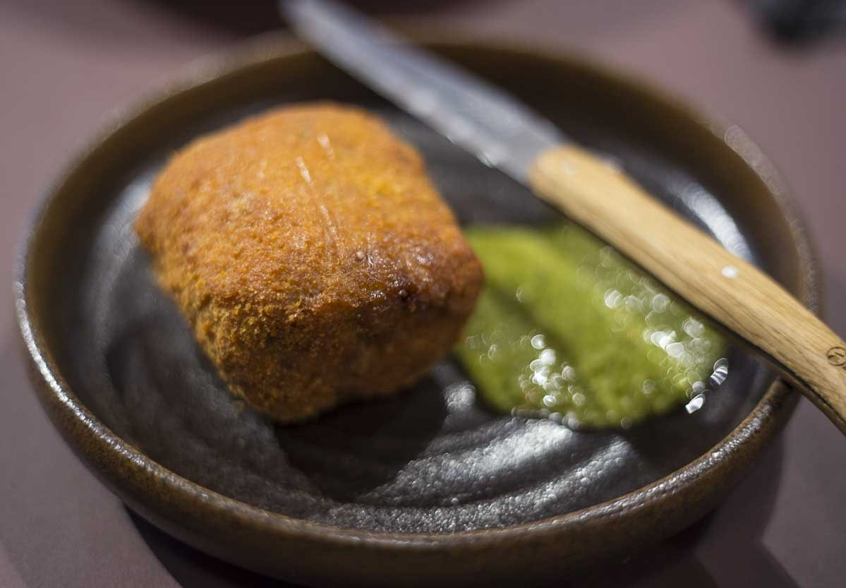 MUTTON ROLL Temper city restaurant food tasting by Fine dining indian food magazine