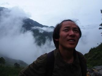 HeJiXing, climbing mountains.