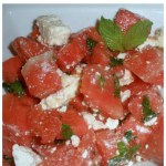 Watermelon Summer Salad. A refreshing, crisp salad that satisfies both your sweet and savory tooth. This watermelon salad recipe is so simple and delicious!