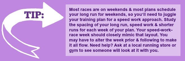 How to Fit Races into Your Marathon Training Plan. If you're training to run a marathon, or any big goal event, it can be tricky to know how to fit shorter races into your running plan. Here are three approaches to incorporating races in your training! | running tips | running |