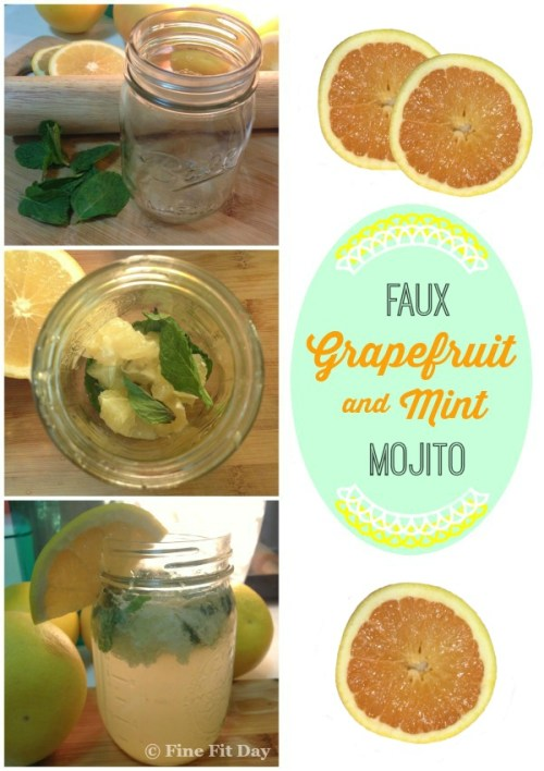 Grapefruit Mint Faux-Mojito - A delicious cocktail when you're craving a mojito! Non-alcoholic and so refreshing! It's a little piece of summer in a glass.