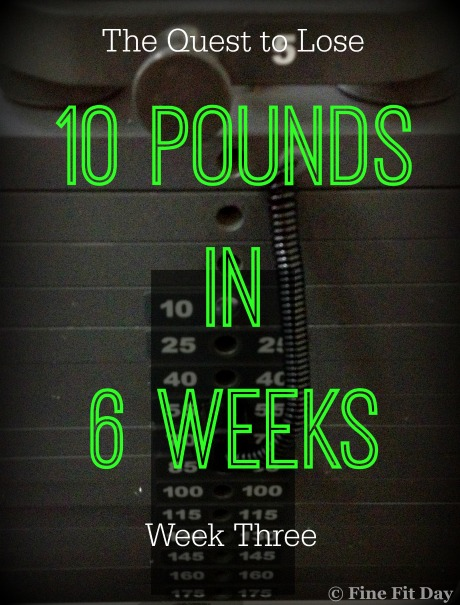 The Quest to Lose 10 Pounds in 6 Weeks - Week Three. After a scary doctor's appointment, Fran realized he needed accountability to help him lose weight. This is his account of the weight loss process.