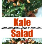Kale Salad with Almonds, Feta and Cherries