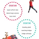 Looking for an at home circuit workout you can get done when you're stuck at home? Try this - two circuits, minimal equipment and a great workout.