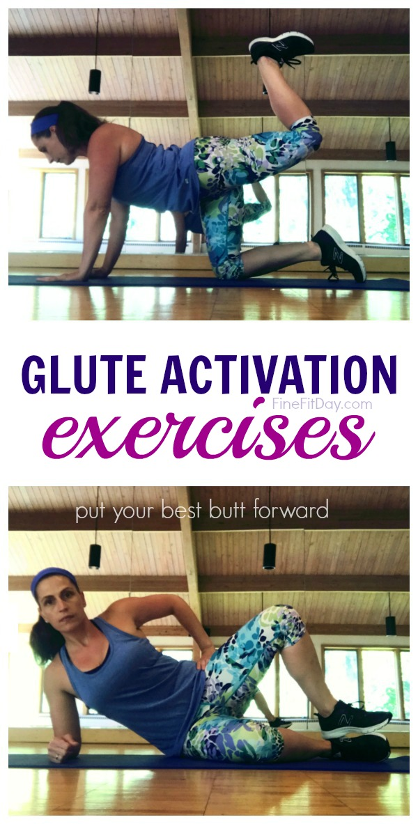 10 Glute Activation Exercises - create your own glute activating dynamic warmup for your next run or strength training workout.