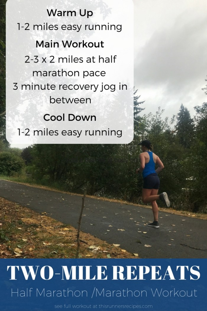 Half marathon and marathon workouts chosen by running coaches and bloggers for the Run It series. These are the workouts these coaches love for marathon and half marathon training!