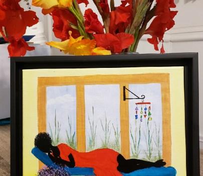 Power Nap – Framed Canvas