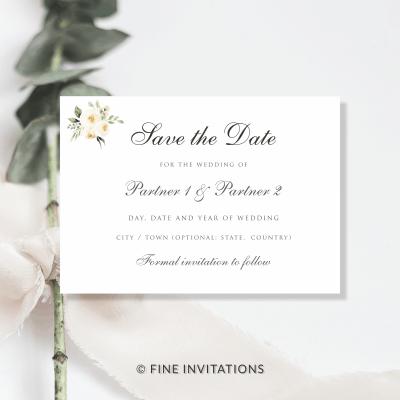 blush floral wedding Save The Dates Australia