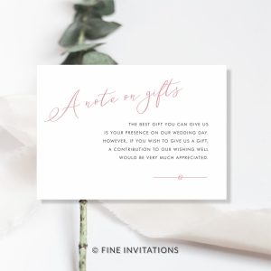modern calligraphy minimalist wedding gifts cards online