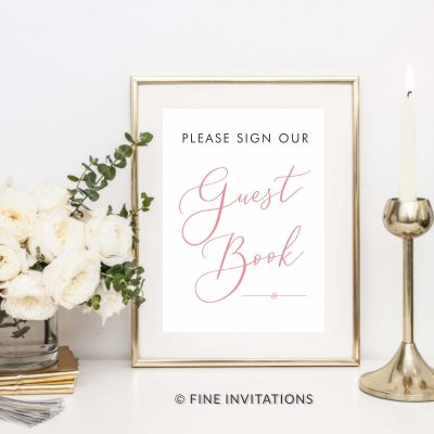 Wedding Guest book signs online