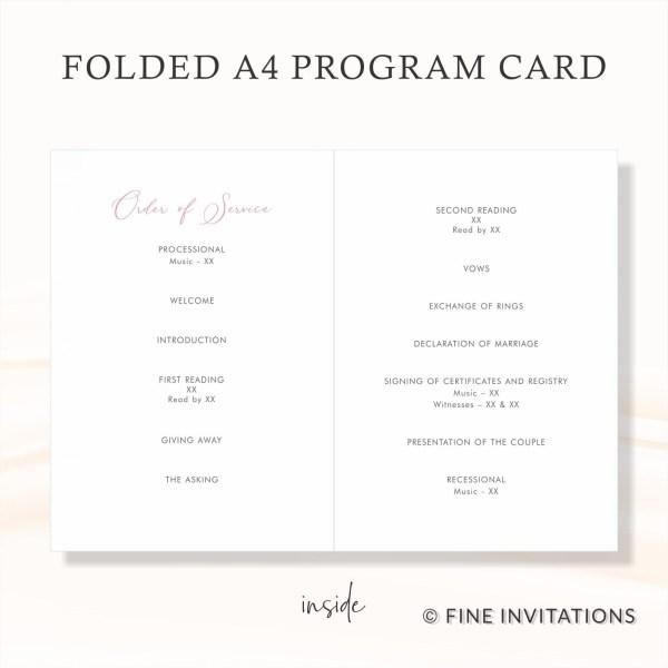 Australian wedding programs online