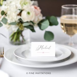 modern calligraphy wedding place cards Australia