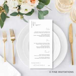 DL wedding menu cards
