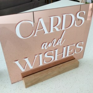 rose gold wishing well sign