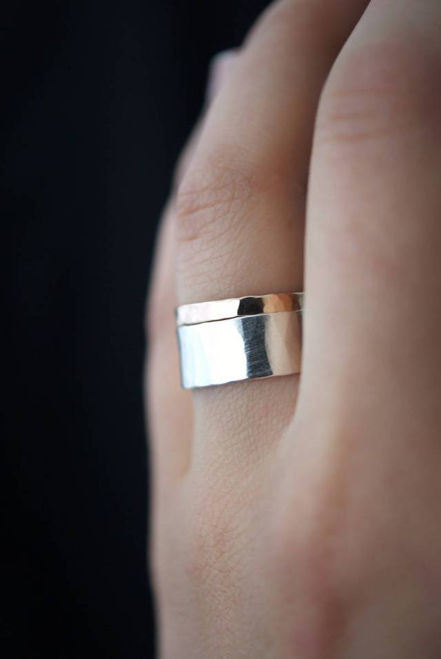 Wide Sterling Silver Unisex  Band Ring
