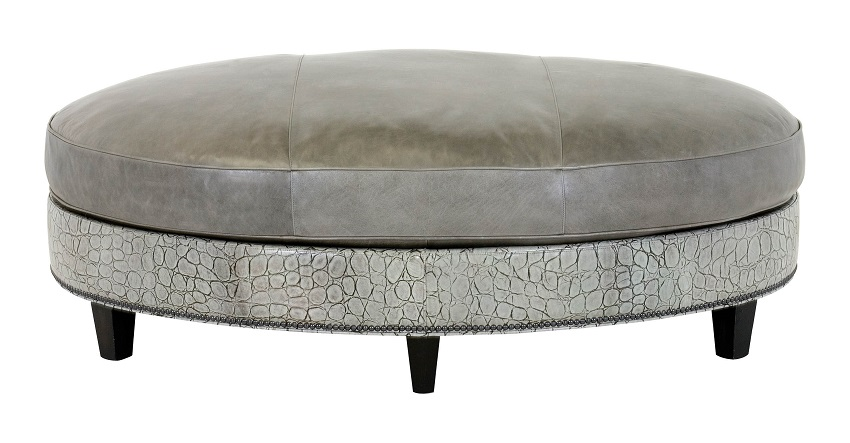 Leather Cocktail Ottoman Wexford Leather Oval Cocktail