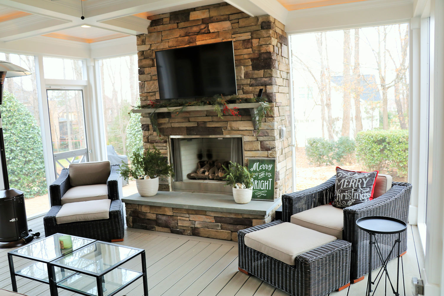 Cozy And Comfortable Screen Porch In Fort Mill - Patio Furniture Charlotte Nc
